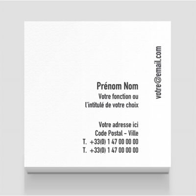 Carte de visite carrée