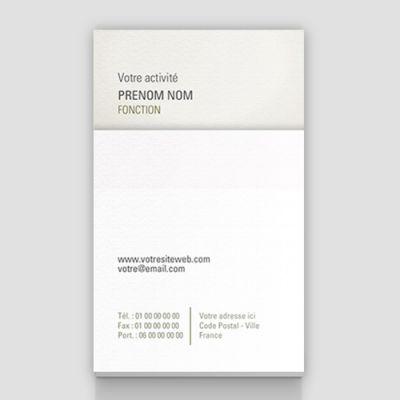 Carte de visite verticale