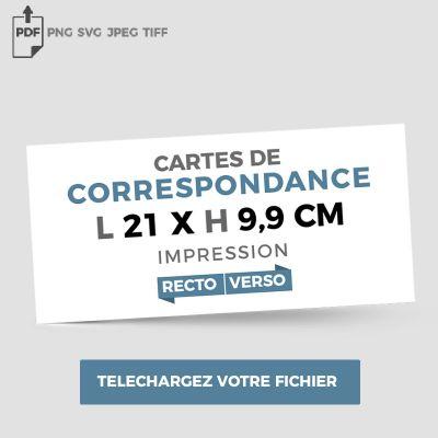 Format correspondance - Recto Verso