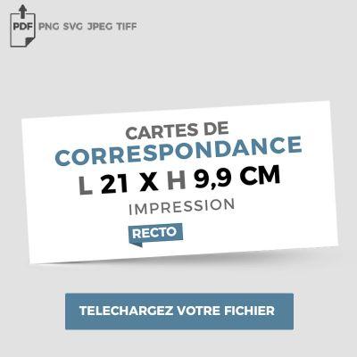 Format correspondance - Recto