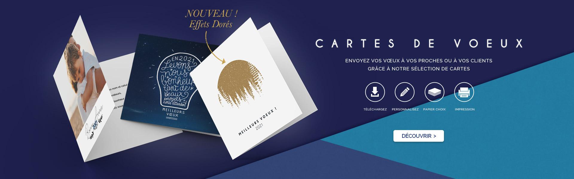 Envoyez vos vœux à vos proches ou à vos clients grâce à notre sélection de carte de voeux
