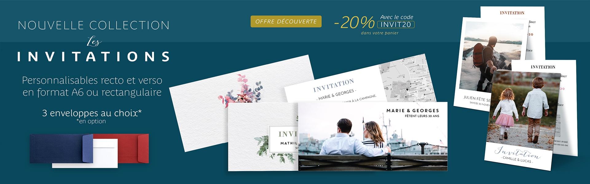 Offre découverte : Cartes d'invitation -20%