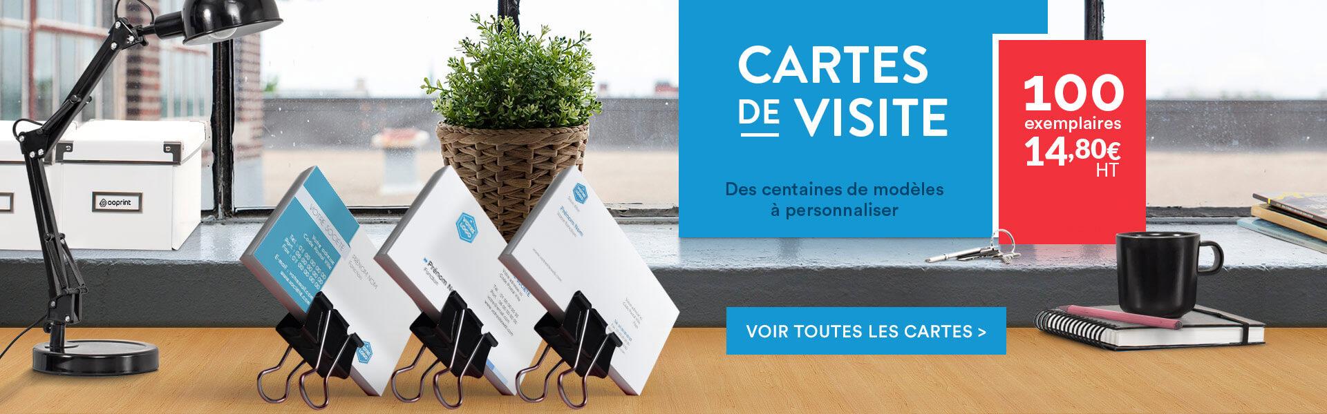 Cartes de visite à partir de 14,80 euros les 200 ex