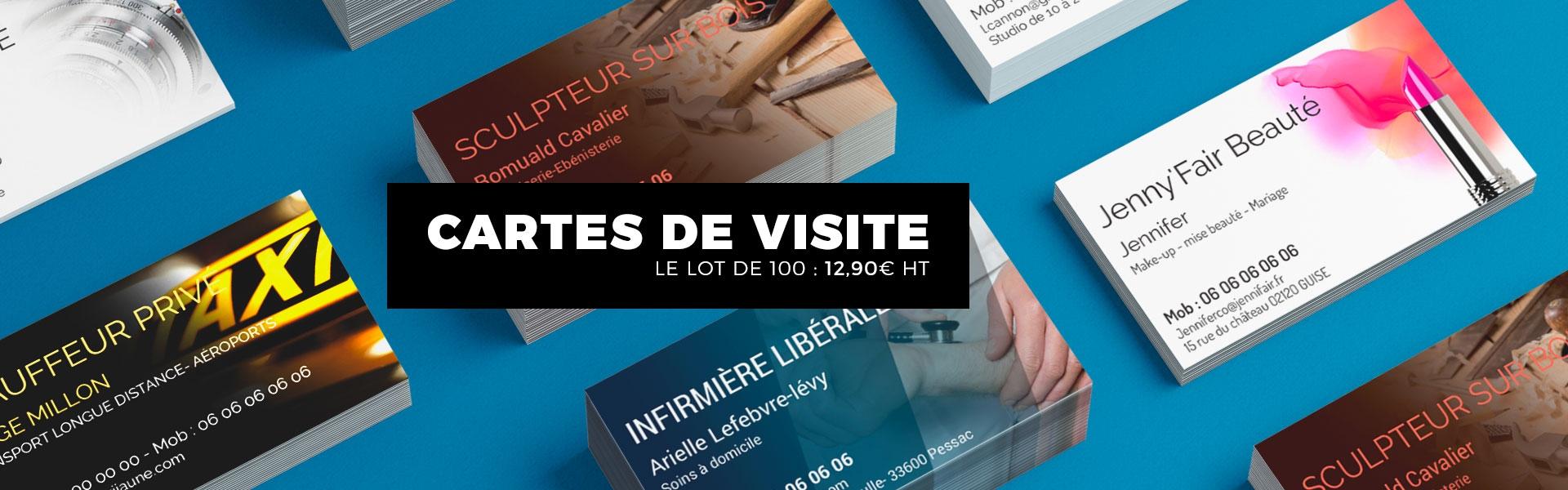 Cartes De Visite Partir 1290 Euros Les 100 Ex