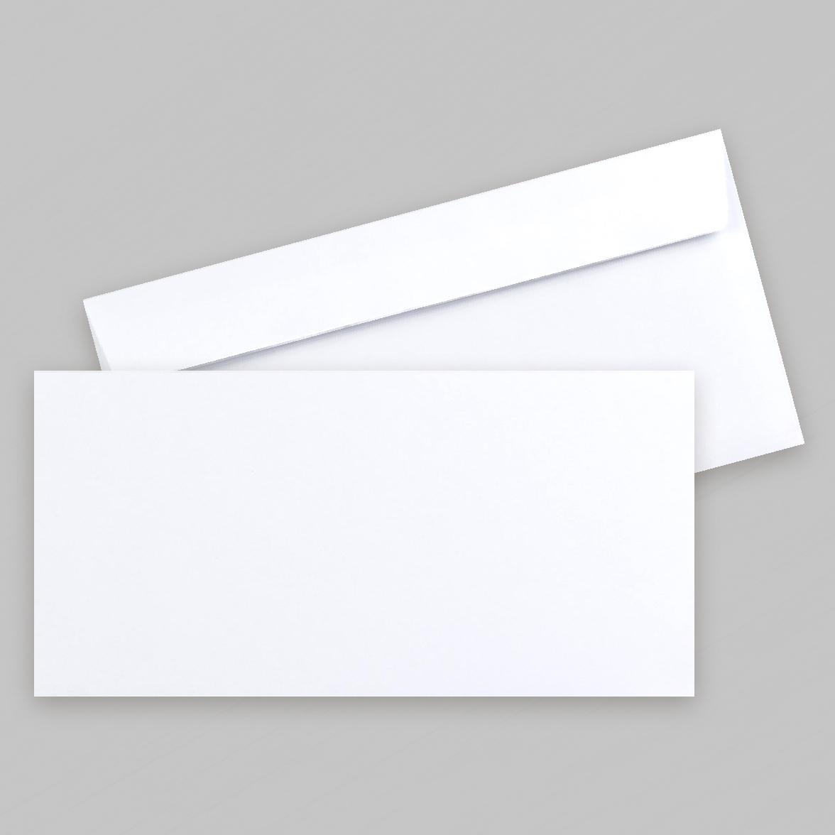 Enveloppe blanche rectangle