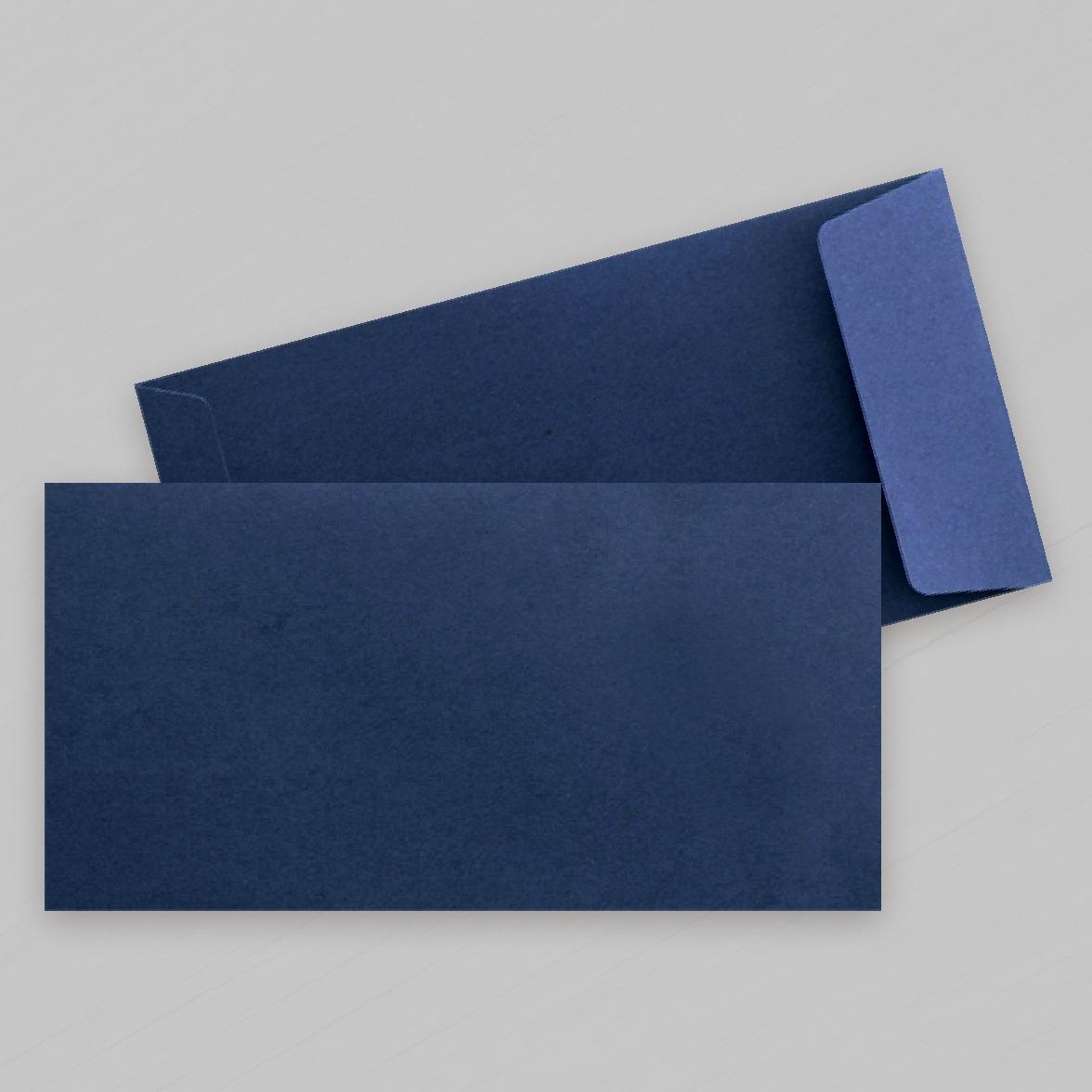 Pochette bleu nuit rectangle