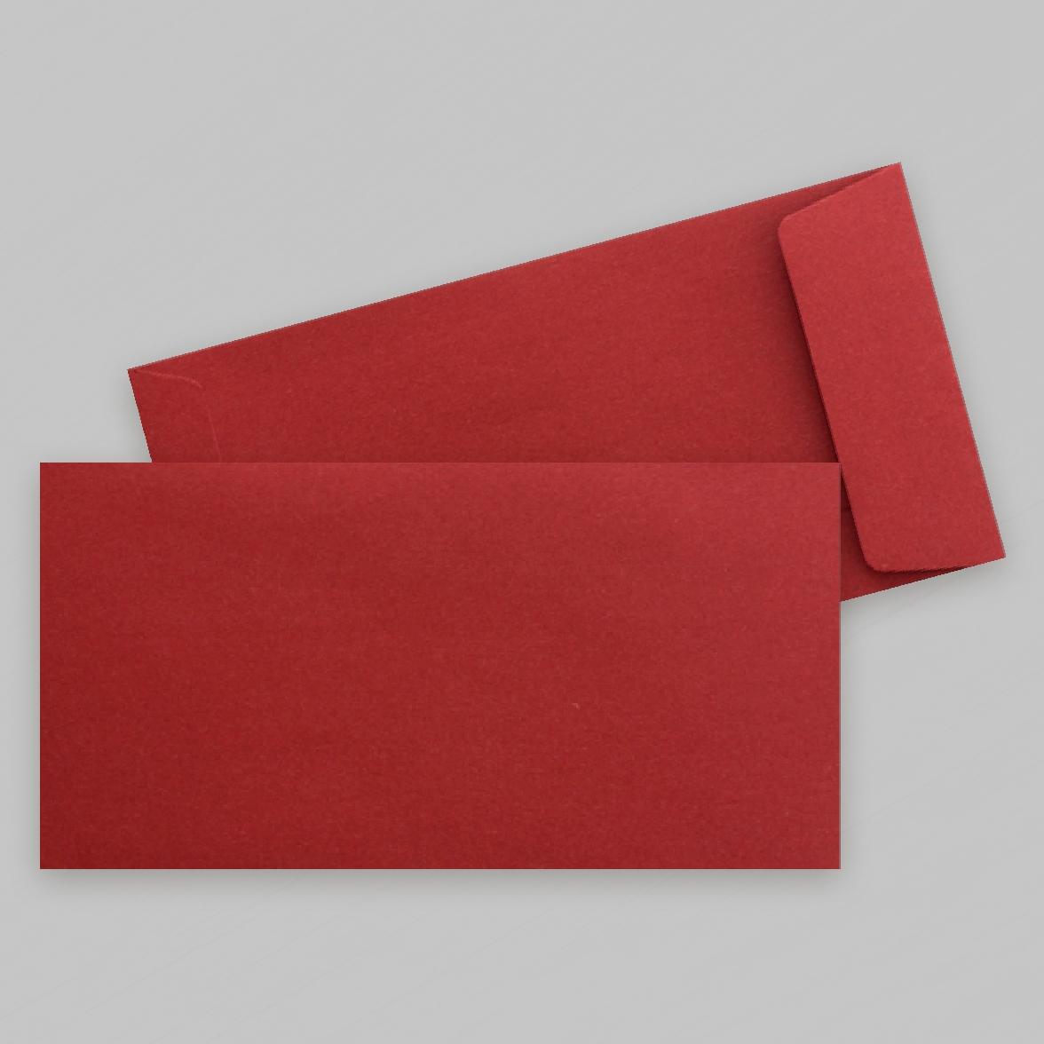 Pochette rouge brique rectangle