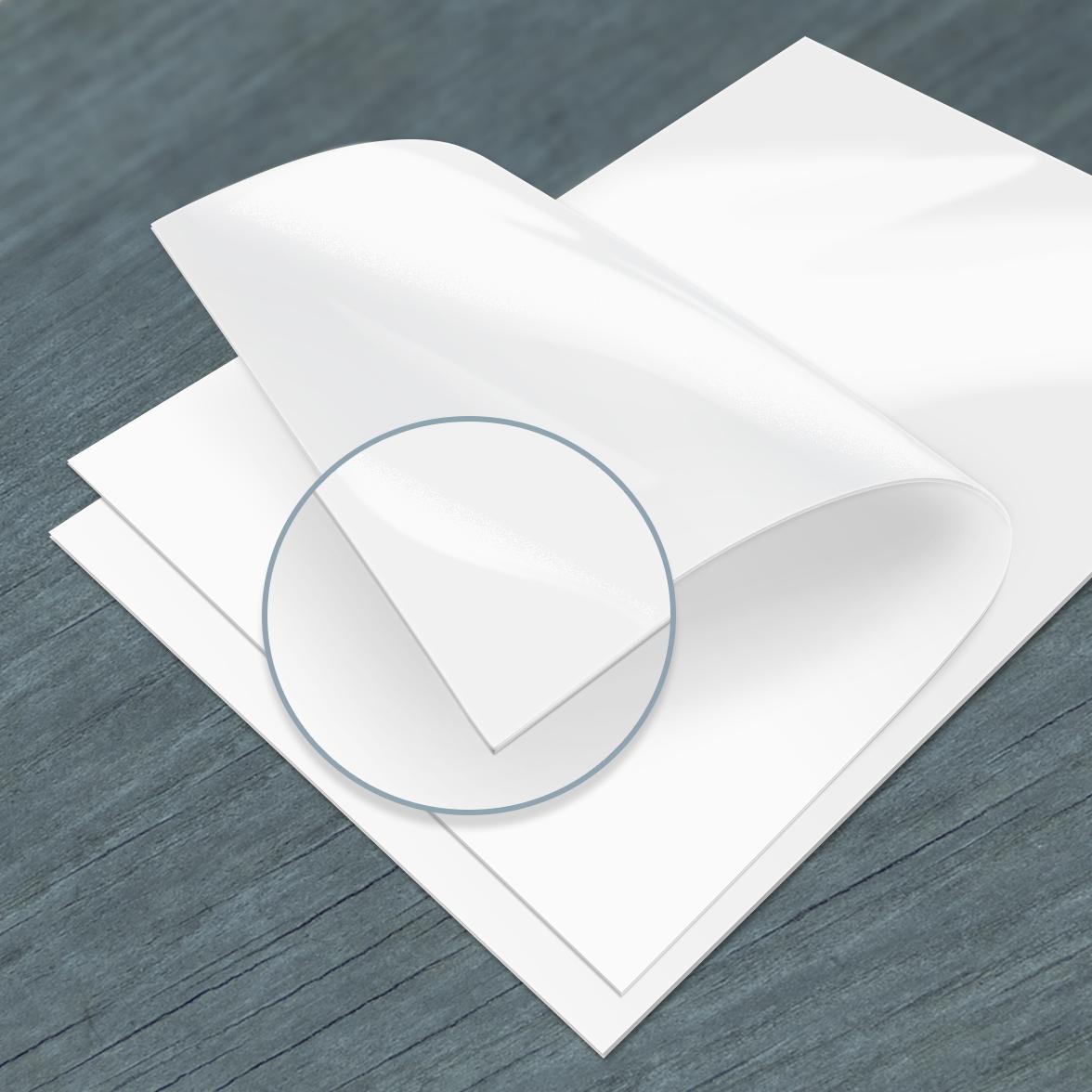 300g Blanc pelliculage brillant recto verso