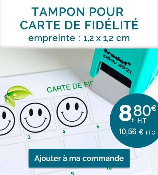 Tampon carte de fidélité Smile