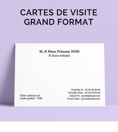 Carte De Visite Grand Format