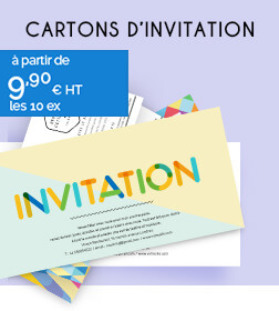 Cartons d'invitation